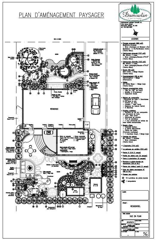 Plans archives page 2 sur 2 am nagement paysager dumoulin for Plan amenagement paysager