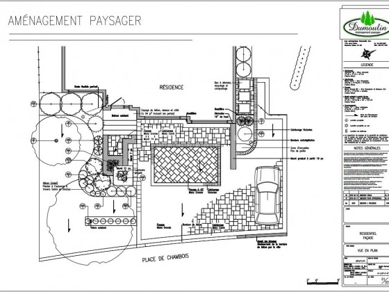 Plans archives am nagement paysager dumoulin for Plan amenagement paysager